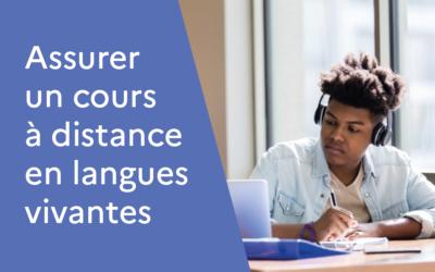 Assurer un cours à distance en langues vivantes