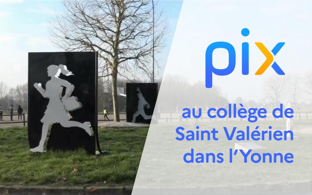 Mise en place de Pix au collège de Saint Valérien dans l'Yonne